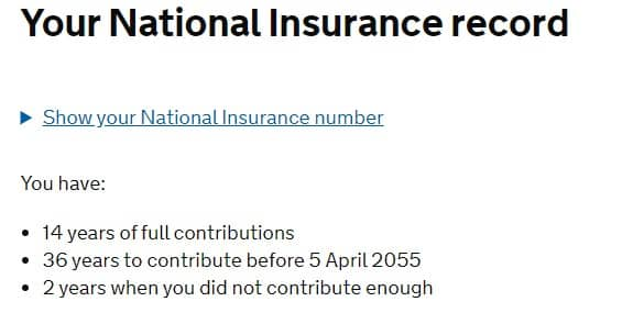 National Insurance Number Record